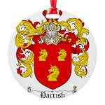 Parrish Family Crest Round Ornament