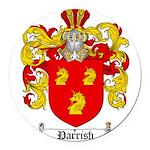 Parrish Family Crest Round Car Magnet