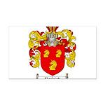 Parrish Family Crest Rectangle Car Magnet
