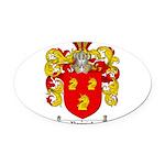 Parrish Family Crest Oval Car Magnet