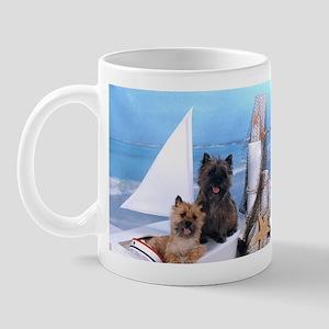 Cairn Terrier Boat Boys Mug
