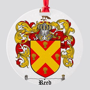 Reed Family Crest Round Ornament