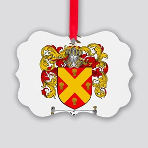 Reed Family Crest Picture Ornament