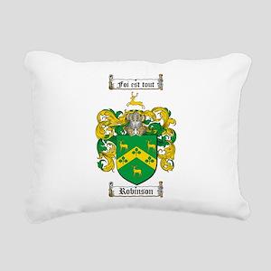 Robinson Coat of Arms Rectangular Canvas Pillow
