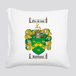 Robinson Coat of Arms Square Canvas Pillow