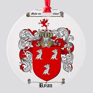 Ryan Coat of Arms Round Ornament