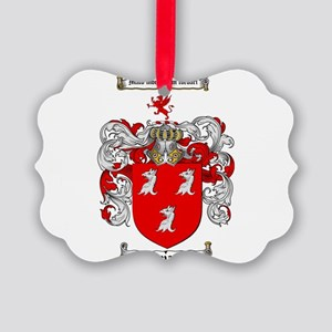 Ryan Coat of Arms Picture Ornament