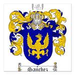 Sanchez Coat of Arms Square Car Magnet 3