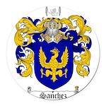 Sanchez Coat of Arms Round Car Magnet