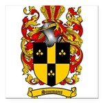 Simmons Coat of Arms Square Car Magnet 3