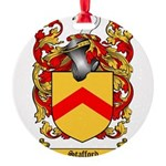 Stafford Coat of Arms Round Ornament