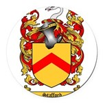 Stafford Coat of Arms Round Car Magnet