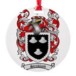 Strickland Coat of Arms Round Ornament