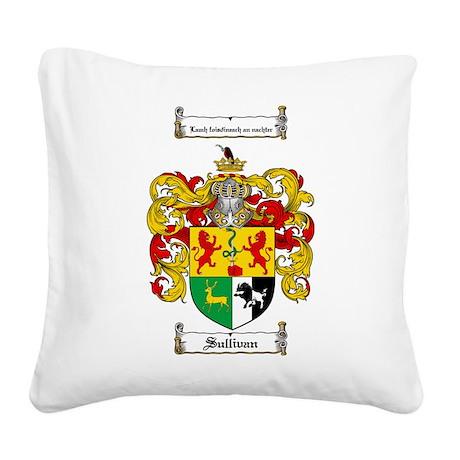 Sullivan Coat of Arms Square Canvas Pillow
