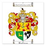 Sullivan Coat of Arms Square Car Magnet 3