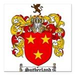 Sutherland Coat of Arms Square Car Magnet 3