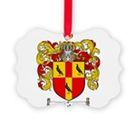Tate Coat of Arms Picture Ornament