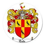 Tate Coat of Arms Round Car Magnet