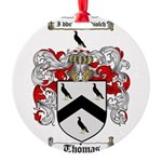 Thomas Coat of Arms Round Ornament