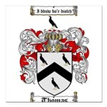 Thomas Coat of Arms Square Car Magnet 3