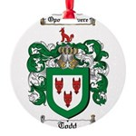 Todd Coat of Arms Round Ornament