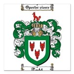 Todd Coat of Arms Square Car Magnet 3
