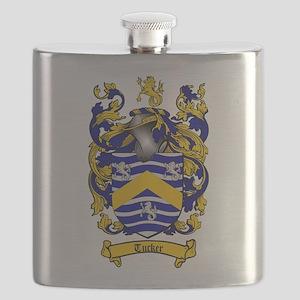 Tucker Coat of Arms Flask