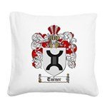 Turner Coat of Arms Square Canvas Pillow