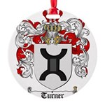 Turner Coat of Arms Round Ornament