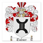 Turner Coat of Arms Square Car Magnet 3