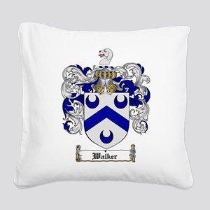 Walker Coat of Arms Square Canvas Pillow