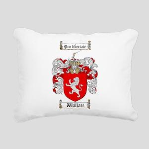 Wallace Coat of Arms Rectangular Canvas Pillow