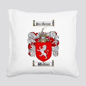Wallace Coat of Arms Square Canvas Pillow