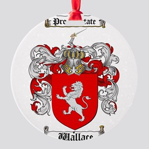 Wallace Coat of Arms Round Ornament