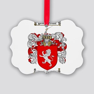 Wallace Coat of Arms Picture Ornament