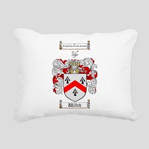 Walsh Coat of Arms Rectangular Canvas Pillow