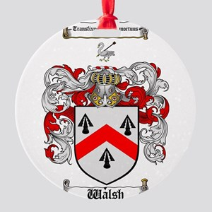 Walsh Coat of Arms Round Ornament