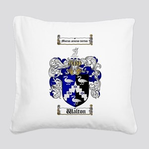 Walton Coat of Arms Square Canvas Pillow