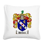 Webster Coat of Arms Square Canvas Pillow