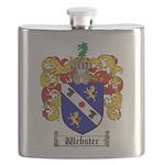 Webster Coat of Arms Flask