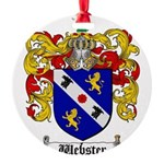 Webster Coat of Arms Round Ornament