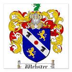 Webster Coat of Arms Square Car Magnet 3