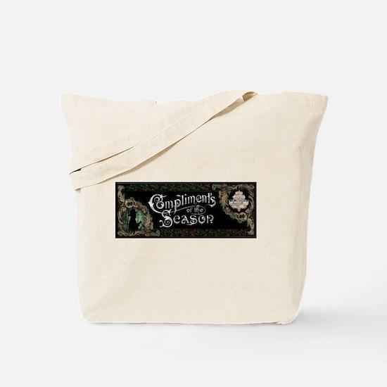 Phantom of the Opera Christmas Greeting Tote Bag