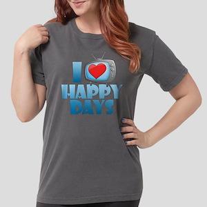 I Heart Happy Days Womens Comfort Colors Shirt