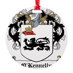 O'Kennelly Coat of Arms Round Ornament