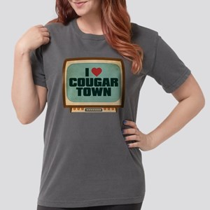Retro I Heart Cougar Town Womens Comfort Colors Sh