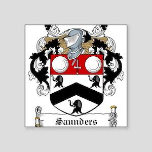 """Saunders (Wexford)-Irish-9 Square Sticker 3"""" x"""