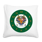 Tuohy Irish Coat of Arms Square Canvas Pillow