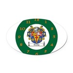 Tuohy Irish Coat of Arms Oval Car Magnet