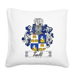 Tinelli Coat of Arms Square Canvas Pillow